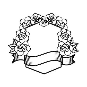 Roses tattoo design