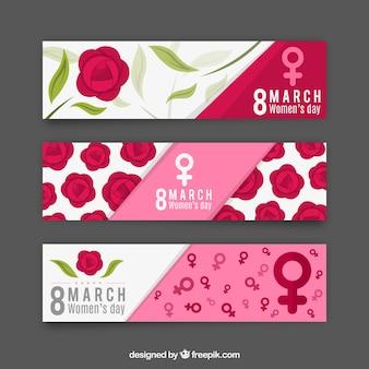 Bandiere di giorno roses delle donne