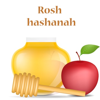 Rosh hashanah holiday concept , realistic style