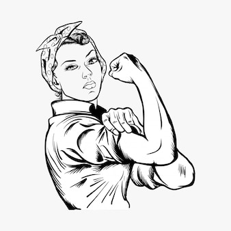 Rosie the riveter vector illustration