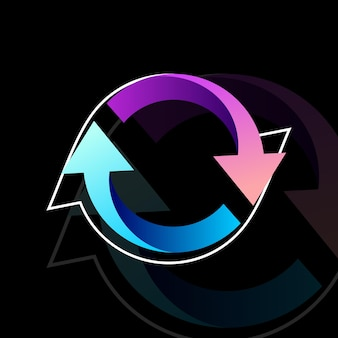 Rotate colorful design vector