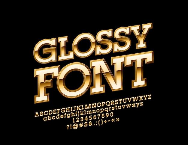 회전 된 독점 알파벳 문자, 숫자 및 기호. 우아한 광택 글꼴.
