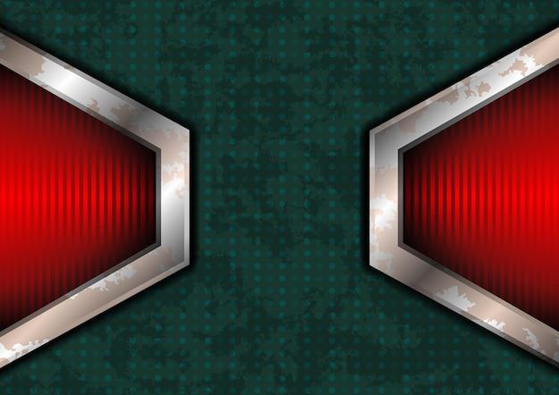 赤いライトが付いている粗い点線の表面