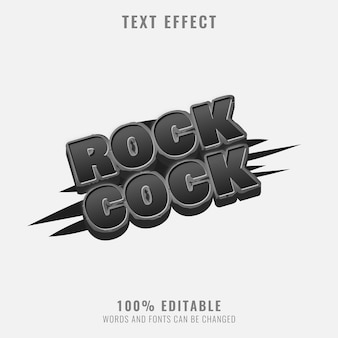 Rough stone rock text effect perfect for game title