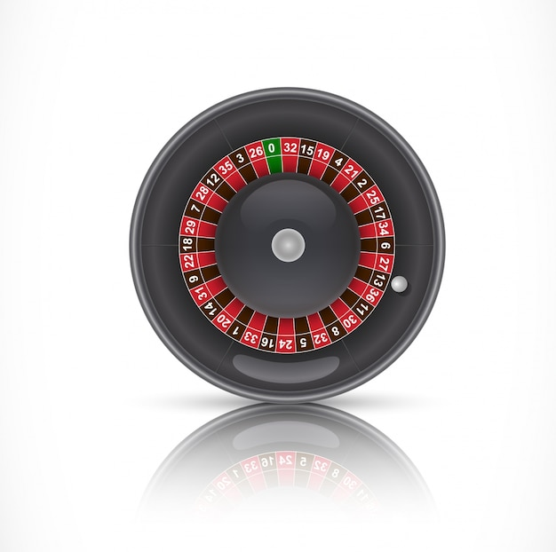 Roulette in casino illustration