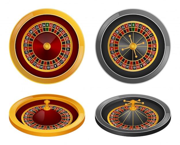Roulette wheel spin mockup set