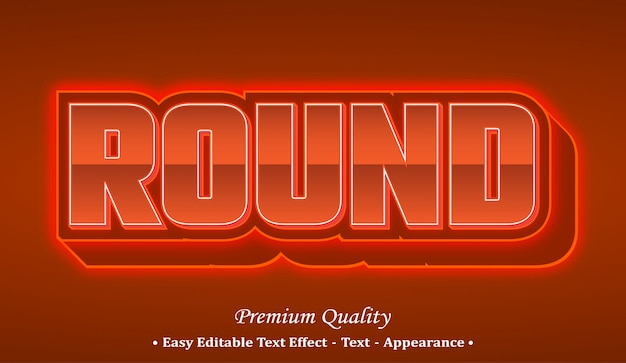 Round 3d font style effect