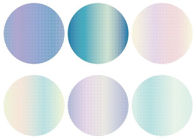丸い抽象的な背景セット。白い背景で隔離のベクトルイラスト。