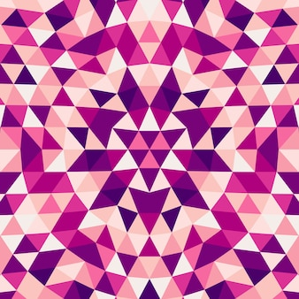 Round abstract geometrical triangle kaleidoscope mandala background - vector pattern graphic art from color triangles