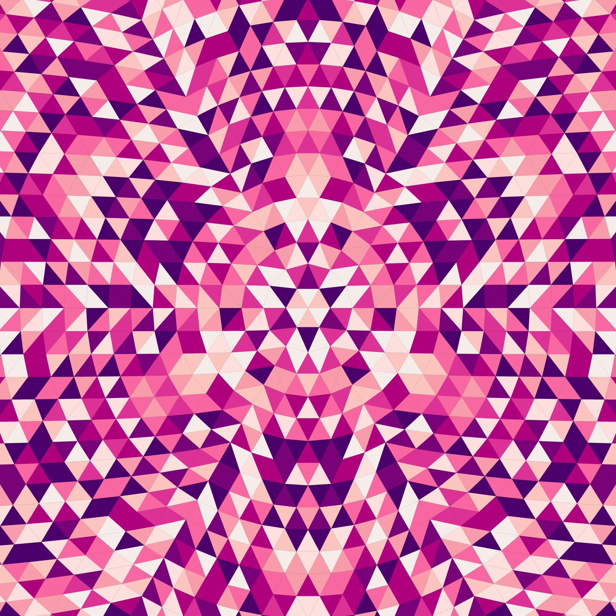 Round abstract geometrical triangle mandala background - symmetrical vector pattern design from colorful triangles