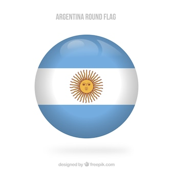 Round argentina flag background