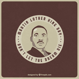 Round background of martin luther king day