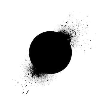 Round badge exploding