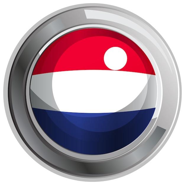 네덜란드 국기에 대 한 라운드 배지