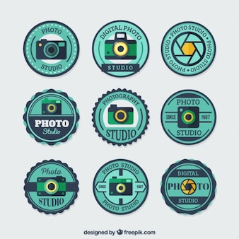 Round badges for photo studios