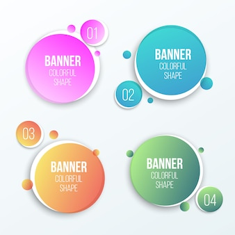 Round banners.
