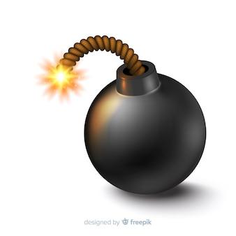 Rotondo stile bomba nera realistico