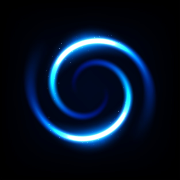 Round blue light twisted