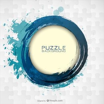 Round blue paint stroke
