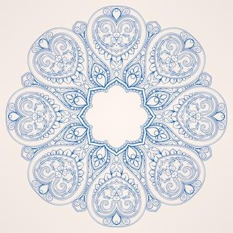Круглый синий узор