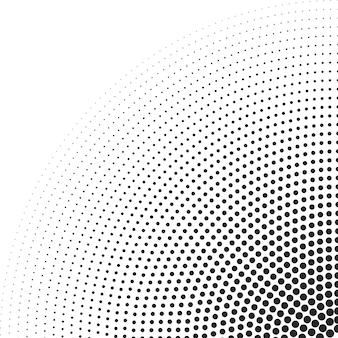하프톤 원 도트 래스터 텍스처를 사용하여 둥근 테두리 아이콘 원형 추상 벡터 배경