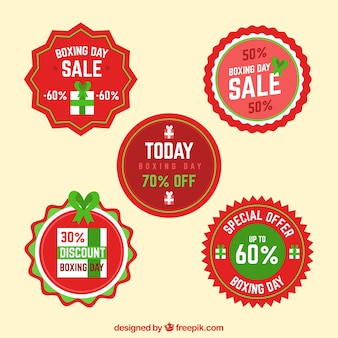Round boxing day sale badge