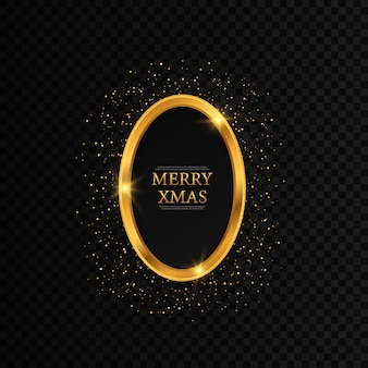 Round christmas frame with stars frame merry christmas greeting card