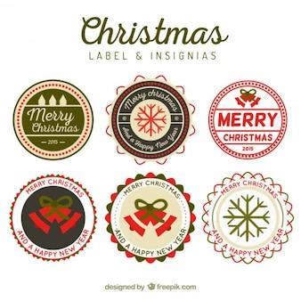 ラウンドクリスマス徽章