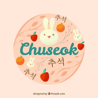 Round chuseok background