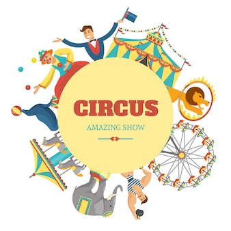 Round circus composition