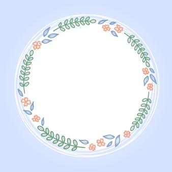 丸いかわいい花のフレーム