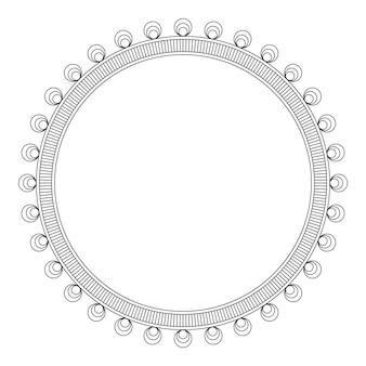 Round decorative frame, vector illustration