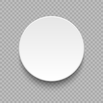 Round empty plate