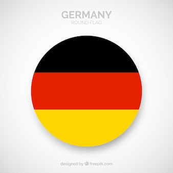 Round flag of germany