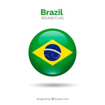 Round flag of brazil