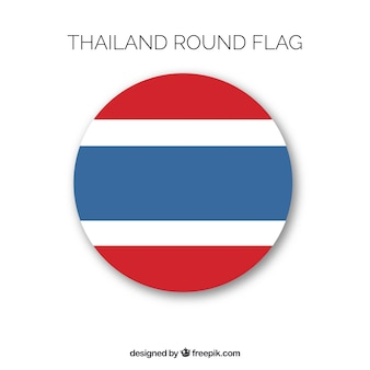 Round flag of thailand