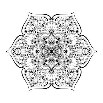 Круглая цветочная мандала для тату хной