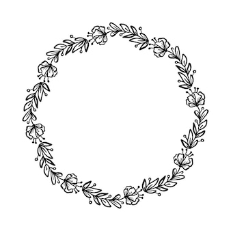 Round flowers wedding frame