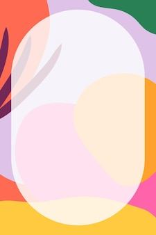 Круглая рамка в красочном нео мемфисе