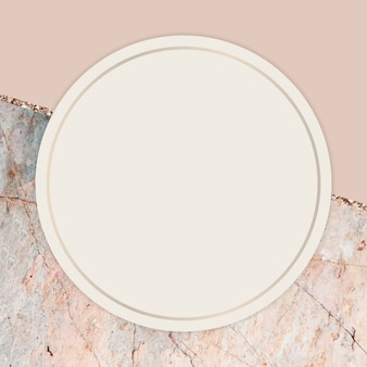 Round frame on marbled background