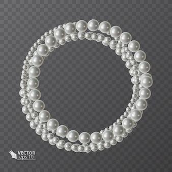 リアルな真珠のラウンドフレーム