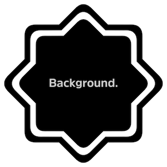 Round frame simple template background