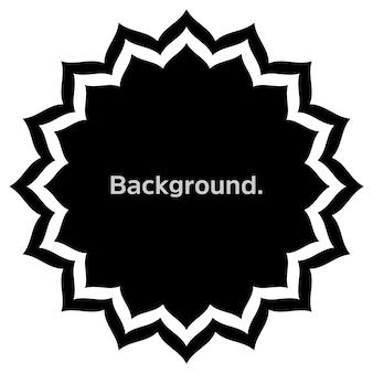 라운드 프레임 간단한 템플릿 배경 무료 벡터
