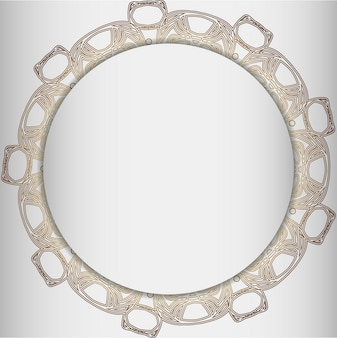 Round frame with abstract element