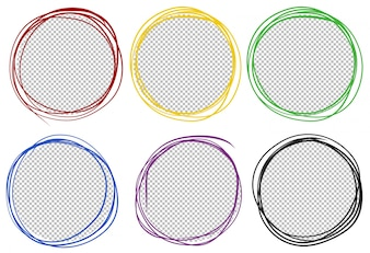 Round frames in six colors