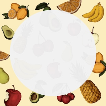 Round fruity frame background
