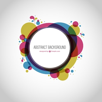 Round geometry abstract background