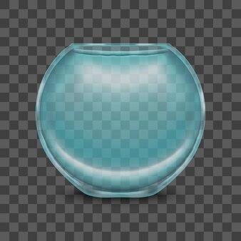 취미 빈 깨끗한 어항의 투명 한 배경 상징에 둥근 유리 수족관. 삽화