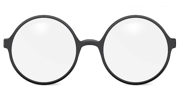 Круглые очки, изолированные на белом фоне