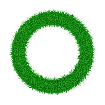 Round grass on white